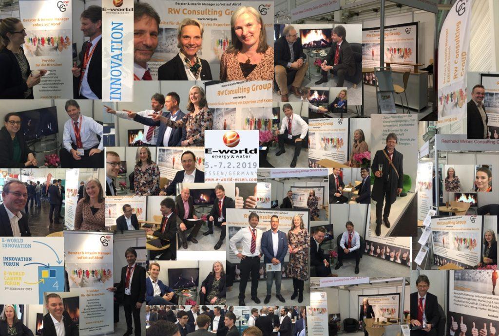So war die E-world energy & water 2019 auf dem Messestand der RW Consulting Group